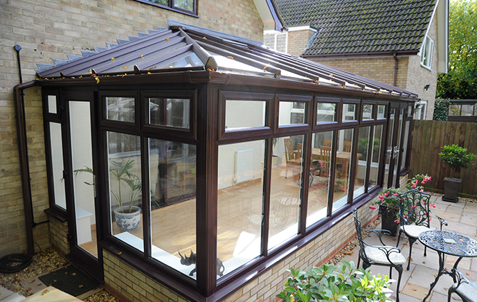 Rosewood Lean to Conservatory