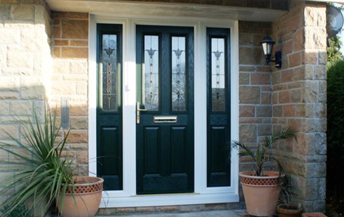 Composite Door with Side Glazing